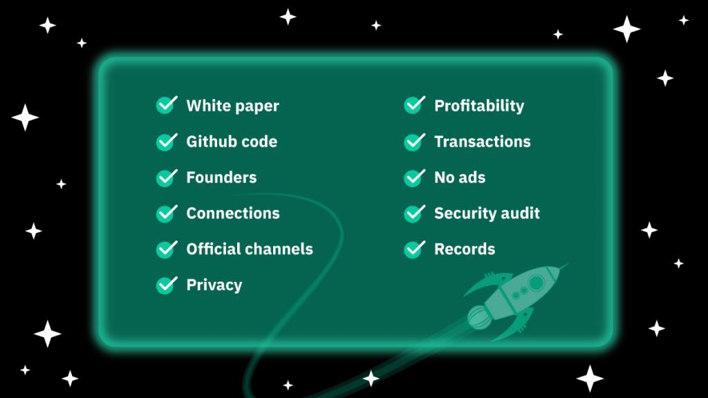Checklist to a trustworthy DeFi project